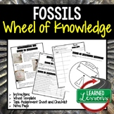 Fossils Activity, Wheel of Knowledge Interactive Notebook