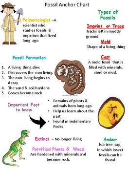 Fossils Anchor Chart