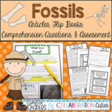Fossils Articles, Flip Books, Questions, and Assessment Distance Learning