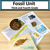 Fossils Close Reading and Hands-on Unit NGSS 3-LS4-1 and 4-ESS1-1