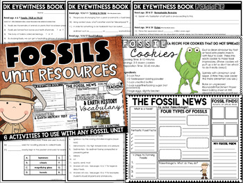 Science - Fossils & Earth Surface Unit Resources {Test Included}
