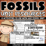 Science - Fossils & Earth Surface Unit Resources | Test Included