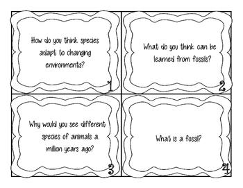 Fossils Evidence for Evolution Task Cards