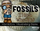 "Fossils Interactive Vocabulary Game ""I Have, Who Has?"" Cards"