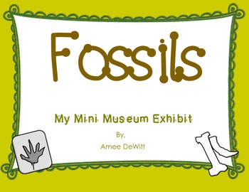 Fossils (My Mini Museum Exhibit)