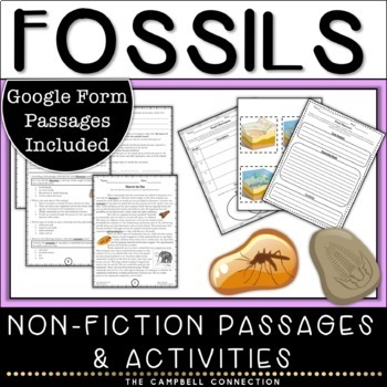 Fossils Nonfiction Passages and Activities