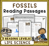 Fossils: Non-Fiction Reading Passages & Questions #hellofall