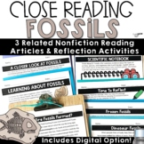 Reading Comprehension Passages and Questions Fossils Nonfiction Close Reading