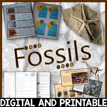 Fossils Pack - Printables, Interactive Notebook, 100% editable PowerPoint