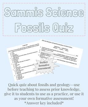 Fossils Quiz