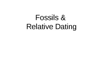 Fossil and relative dating worksheet
