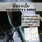 Fossils Vocabulary Activities