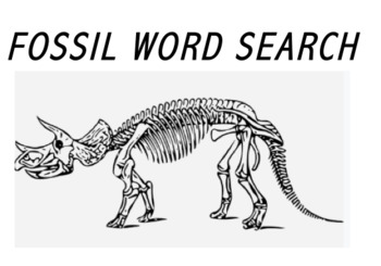 Fossils Word Search