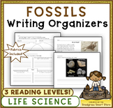 Fossils: Writing Activities and Rubrics (NGSS 3-LS4-1)