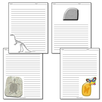 Fossils Writing Paper