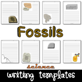 Fossils Science Writing Paper Set