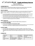 Fossils and Energy Sources Game Puzzle with Worksheet