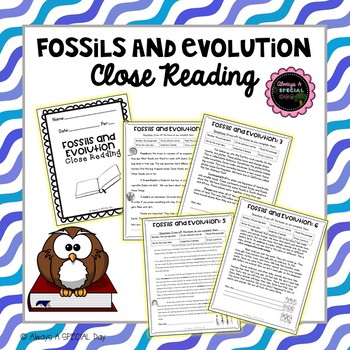 Fossils and Evolution: Close Reading