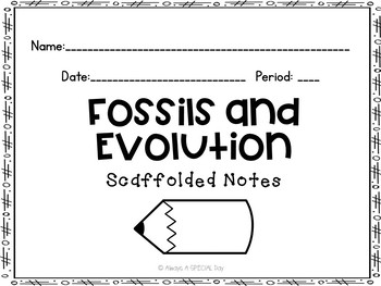 Fossils and Evolution Scaffolded Notes