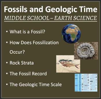 Fossils and Geologic Time - PowerPoint Lesson and Student Notes