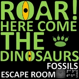 SCIENCE Escape Room - Fossils, formation, dinosaurs, reptiles and fossil hunter