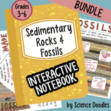 Fossils and Sedimentary Rocks Interactive Notebook BUNDLE by Science Doodles