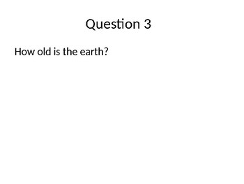 Fossils and the Geologic Time Scale Review Questions