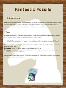 Fossils project-based learning project/webquest