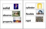 Fossweb Solids and Liquids Vocabulary Cards