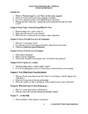 Questions for Foster's How to Read Literature Like a Professor ORIGINAL VERSION