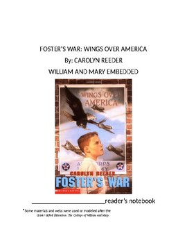 Foster's War by Carolyn Reeder Chapters 1-11