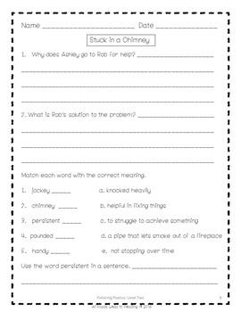 Fostering Fluency Level Two Sample Freebie