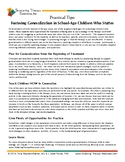 Fostering Generalization in School-Age Children Who Stutter