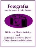 Fotografia - Reflexive Verb and Direct Object Pronoun Activity