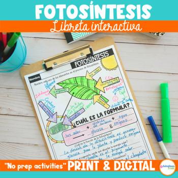 Fotosíntesis Libreta Interactiva DIGITAL & PRINT Distance..