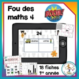 Fou des maths 4 - Boom Cards in French - Distance Learning