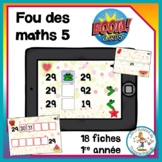 Fou des maths 5 - Boom Cards in French - Distance Learning