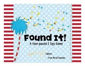 Found It!  Spring memory game