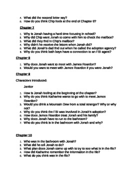 Found - Margaret Peterson Haddix - Chapter Comprehension Questions