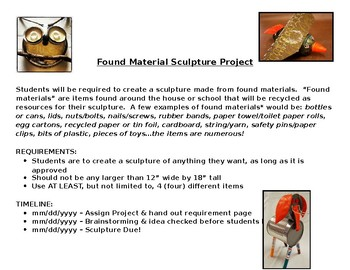 Found Material Sculpture Project