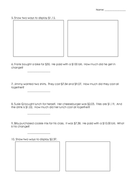 Found Money Worksheet
