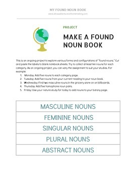 Found Noun Book