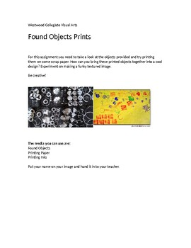Found Object Prints