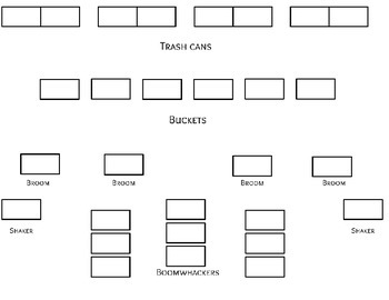 Found Percussion Style Seating Template
