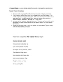 Found Poem Activity and Rubric