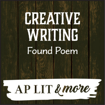 Found Poem - Creative Writing Lesson