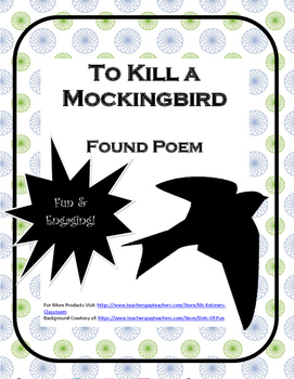 Found Poem - To Kill a Mockingbird