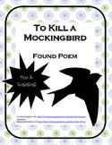 Found Poem - To Kill a Mockingbird