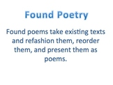 Poetry Extension Lesson, Found Poetry, Unique Poetry Proje