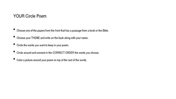 Found Poetry Presentation and Assignment